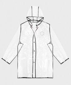 Przeźroczysty płaszcz przeciwdeszczowy
