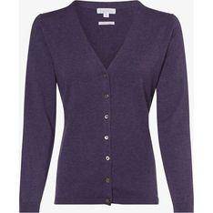 Fioletowy sweter damski Brookshire z dekoltem w serek
