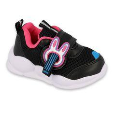 Befado obuwie dziecięce  516P092 czarne różowe