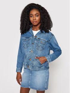Wrangler Kurtka jeansowa Retro W415SF260 Granatowy Regular Fit