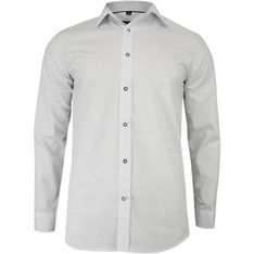 Biała koszula męska Grzegorz Moda z długimi rękawami bawełniana