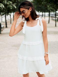 Sukienka damska 015DLR - biała