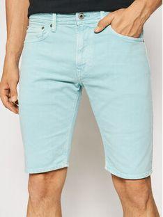 Pepe Jeans Szorty jeansowe Stanley PM800792 Zielony Regular Fit