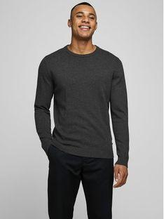 Jack&Jones Sweter Basic 12137190 Szary Regular Fit