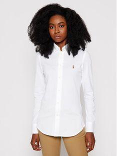 Polo Ralph Lauren Koszula Heidi 211664427003 Biały Slim Fit