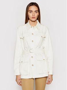 Polo Ralph Lauren Kurtka jeansowa 211834032001 Biały Regular Fit