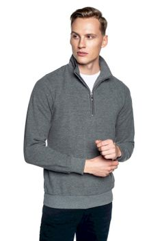 Sweter szary ze stójką z zamkiem Tennis TRAM TR