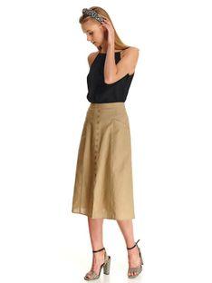 Spódnica trapezowa z ozdobnymi guziczkami