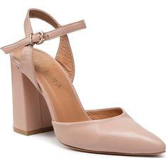 Sandały damskie BADURA eleganckie z tworzywa sztucznego z klamrą