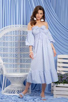 Jasnoniebieska Sukienka w Stylu Boho