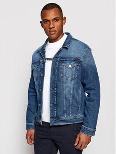 Calvin Klein Jeans Kurtka jeansowa J30J317246 Granatowy Slim Fit