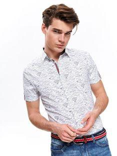Koszula z nadrukiem dopasowana