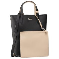 Torebka LACOSTE - Vertical Shopping Bag NF2991AA Black. Warm Sand A91