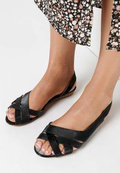 Czarne Sandały Pallelinai