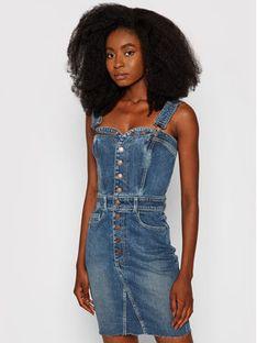 Guess Sukienka jeansowa Eim W1YK33 D46X7 Niebieski Slim Fit