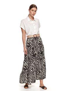 Długa spódnica z nadrukiem w zebrę