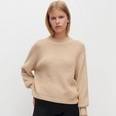 Reserved - Sweter z wyraźnym splotem - Beżowy