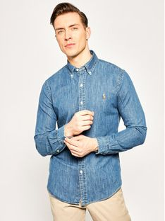 Polo Ralph Lauren Koszula Core Replen 710548539 Granatowy Slim Fit