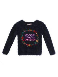 Puszysty sweter z aplikacją Desigual ELIOT