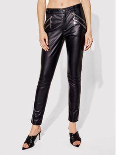 Rage Age Spodnie skórzane Aster 1 Czarny Slim Fit