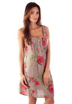Le Monde du Lin - Sukienka letnia - taupe