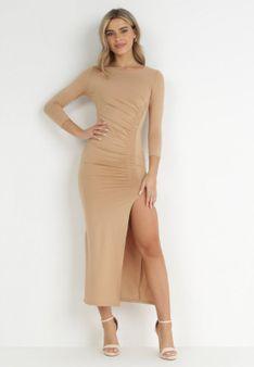Beżowa Sukienka Butheseus