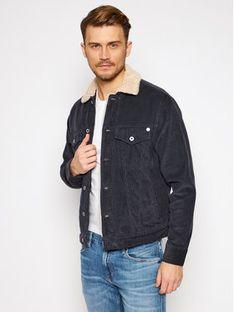 Pepe Jeans Kurtka jeansowa Pinner Dlx PM401281 Granatowy Regular Fit