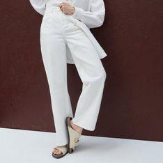 Reserved - Denimowe spodnie - Biały