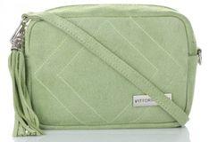 Uniwersalne Torebki Skórzane Listonoszki włoskiej marki Vittoria Gotti Jasno Zielone (kolory)