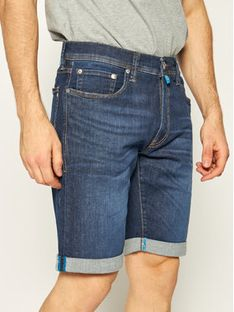 Pierre Cardin Szorty jeansowe 3452/8882 Granatowy Regular Fit