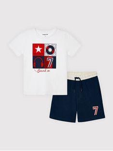 Mayoral Komplet t-shirt i szorty sportowe 3646 Kolorowy Regular Fit