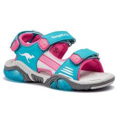 Sandały KANGAROOS - Sandalshine 18353 000 4112 Turquoise/Daisy Pink