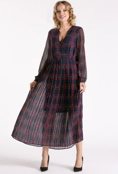 Maxi sukienka z długim rękawem