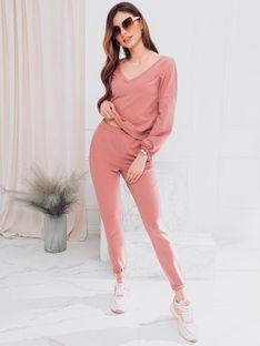 Komplet damski bluza + spodnie 006ZLR - różowy