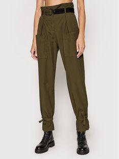 Pinko Spodnie materiałowe Geometria Zielony Regular Fit