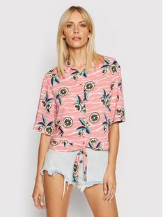 Lee Koszula Knotted Resort Różowy Regular Fit