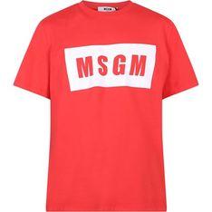 T-shirt męski czerwony MSGM wiosenny