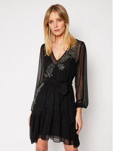 TwinSet Sukienka koktajlowa 202TP2570 Czarny Regular Fit