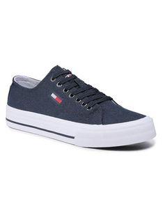 Tommy Jeans Tenisówki Long Lace Up Vulc EM0EM00659 Granatowy