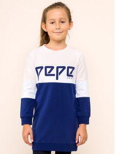 Pepe Jeans Sukienka codzienna PG951240 Granatowy Regular Fit