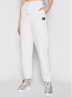 Tommy Jeans Spodnie dresowe DW0DW09740 Biały Relaxed Fit