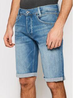 Pepe Jeans Szorty jeansowe Spike PM800109 Niebieski Regular Fit