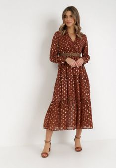 Camelowa Sukienka Fintone