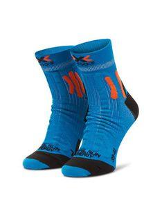X-Socks Skarpety Wysokie Męskie Trail Run Energy XSRS13S19U Niebieski