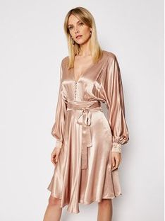 TwinSet Sukienka koktajlowa 202TP2140 Beżowy Loose Fit