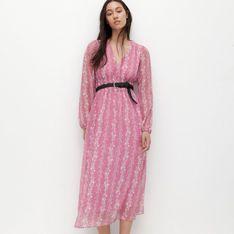 Reserved - Sukienka z transparentnej tkaniny - Wielobarwny