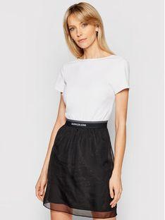 Calvin Klein Jeans Sukienka codzienna J20J215692 Biały Slim Fit