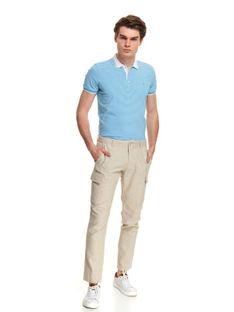 Spodnie typu chino ze strukturalnej tkaniny