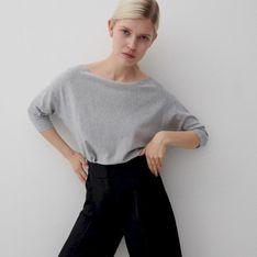 Reserved - Gładki sweter - Szary