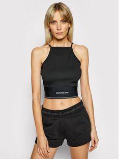Calvin Klein Jeans Top J20J215708 Czarny Slim Fit